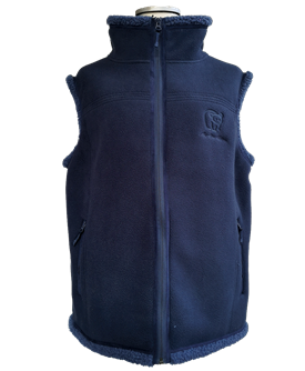 SOFT LAMB FLEECE VEST BLÅ