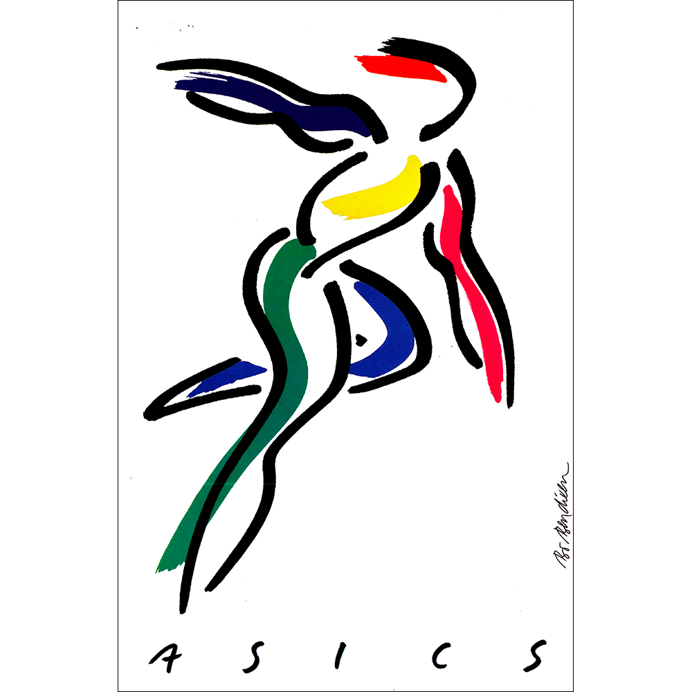 ASICS PLAKAT 62 x 91 cm